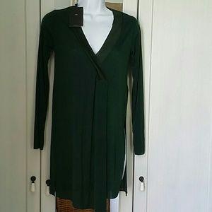 Zara v neck asymmetrical tunic, size S NWT